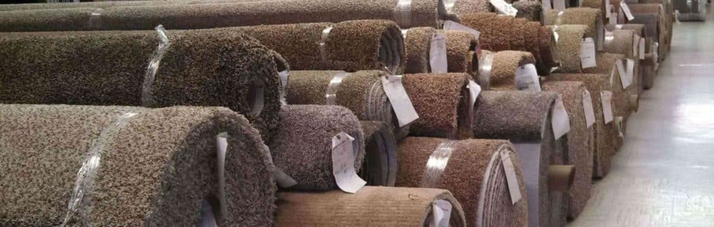 Carpet rolls in store