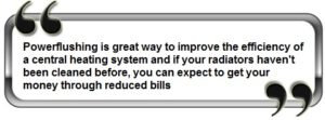 central heating powerflush quote
