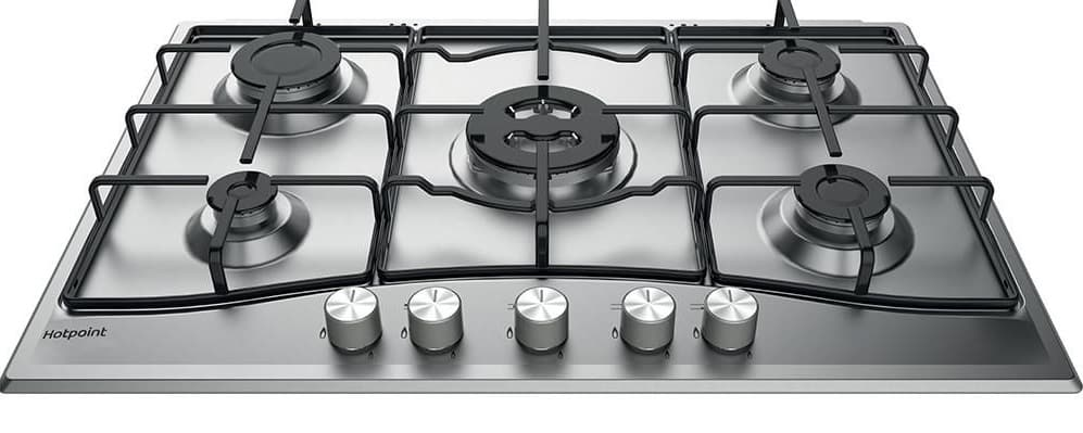 chrome gas hob