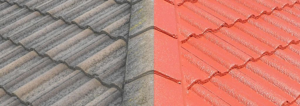 Roof coatings to tiles