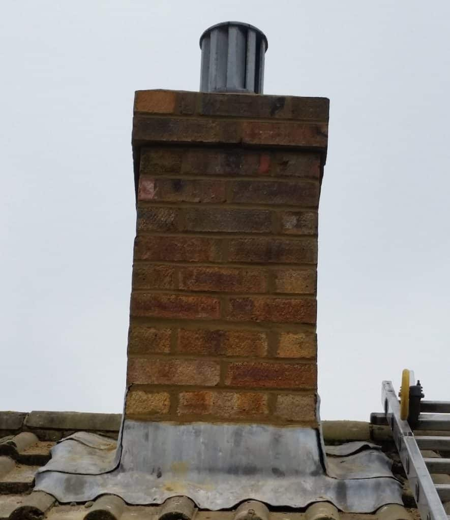 Small brick chimney