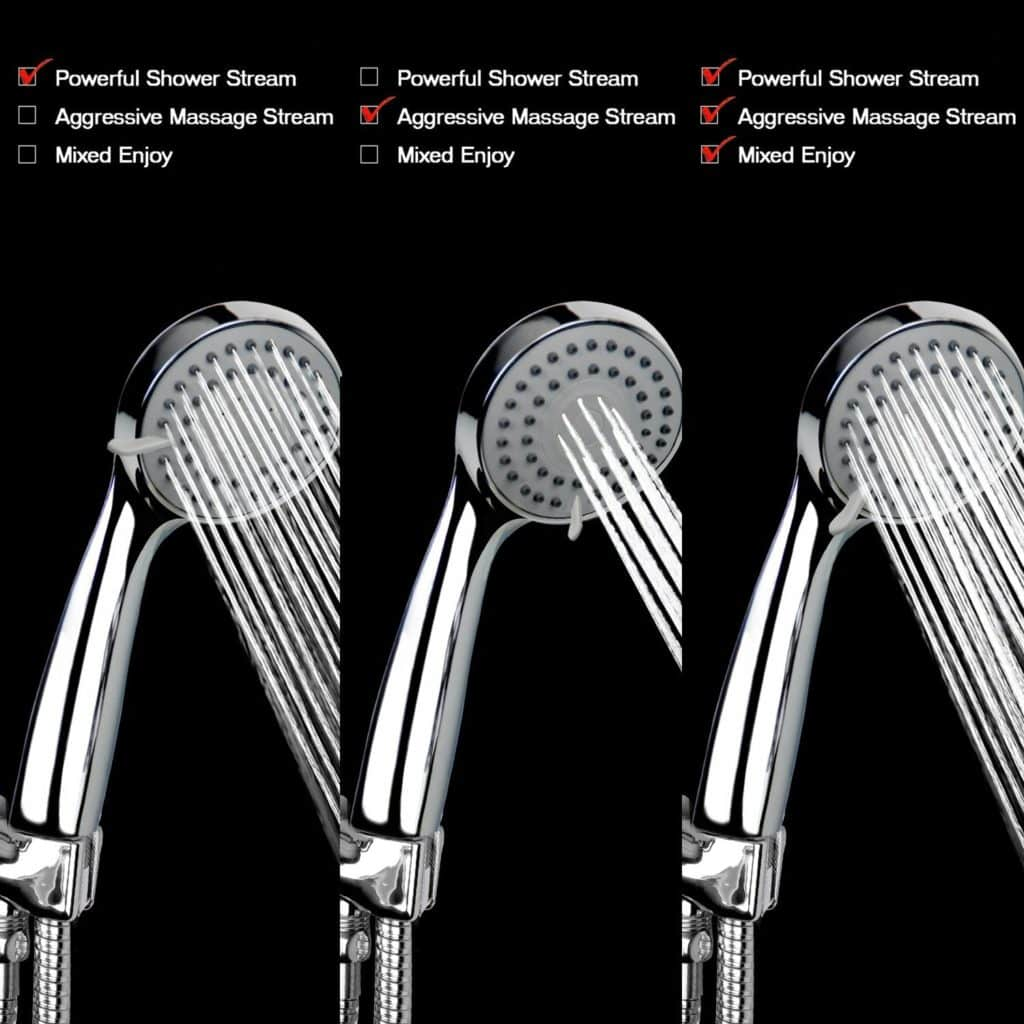 Shower head options