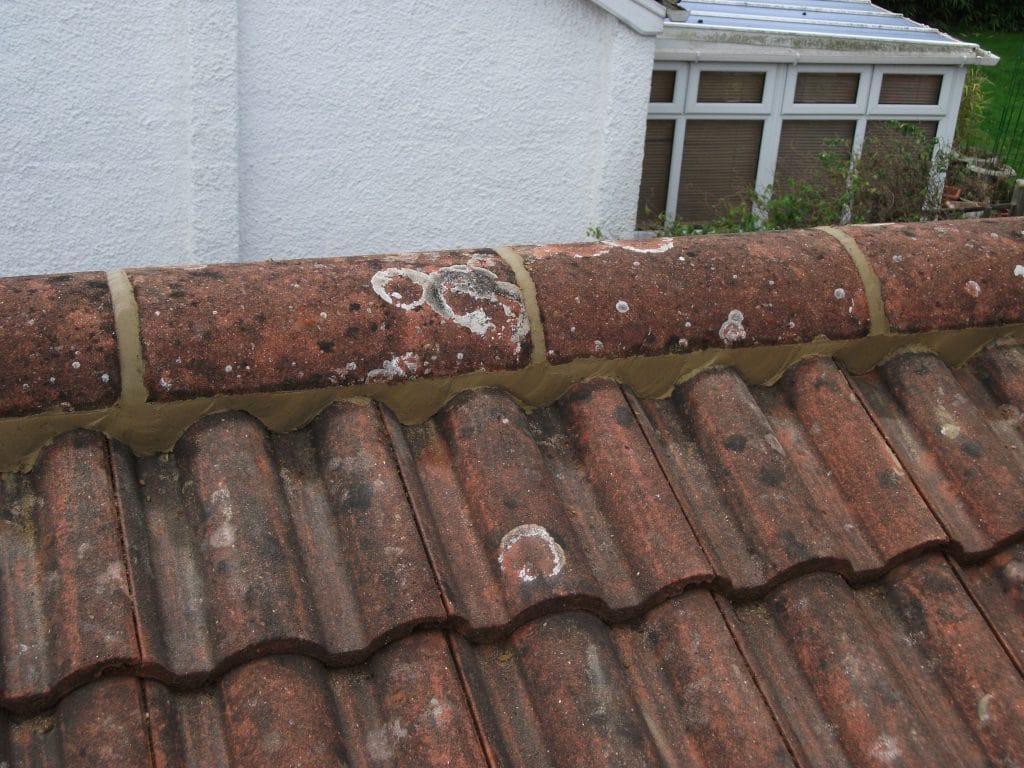 Mortar pointing to ridges