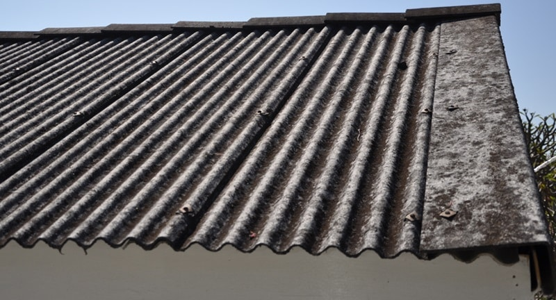 Asbestos garage roof sheets