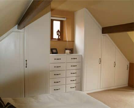 Fitted wardrobes in loft