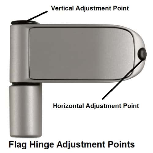 How to adjust door hinges - Flag hinge guide