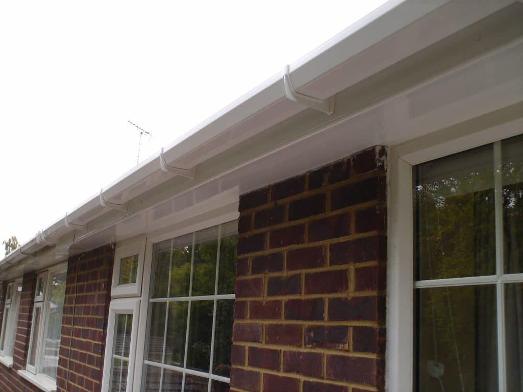 WHITE FASCIA, SOFFIT AND GUTTER