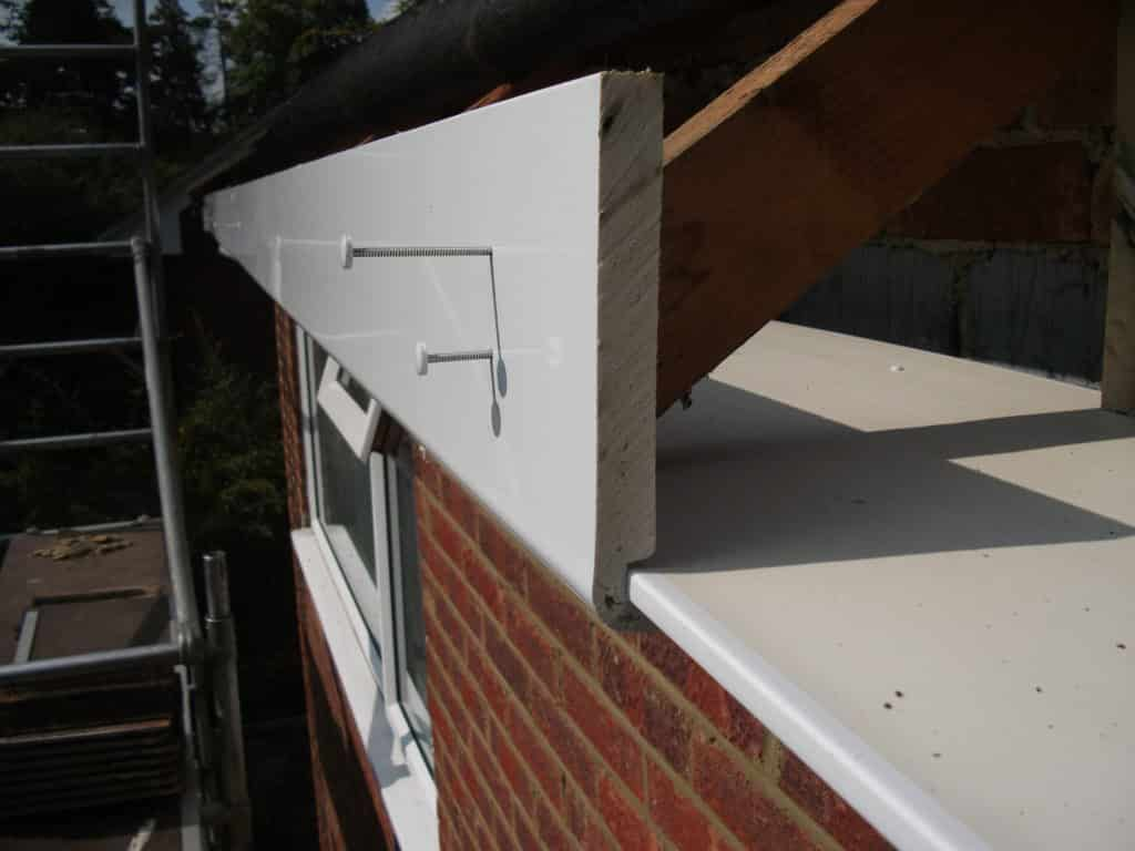 Upvc fascia board, nails and soffit board