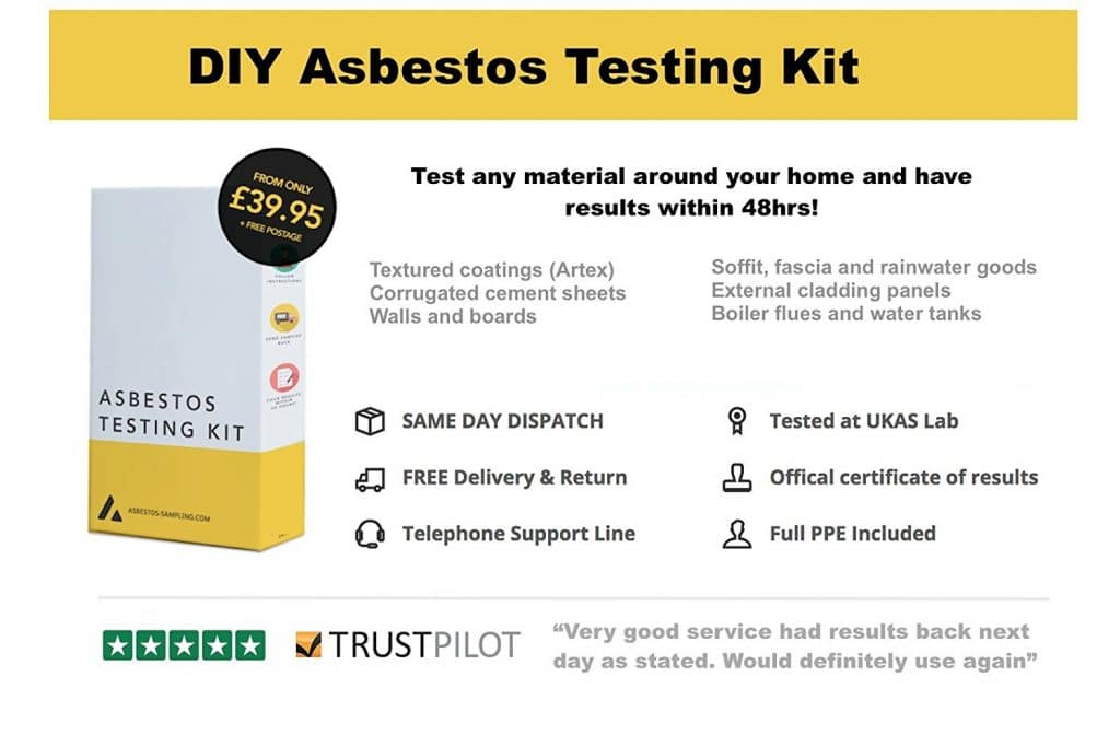 Asbestos self sampling kit United Kingdom