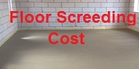 floor screed price list