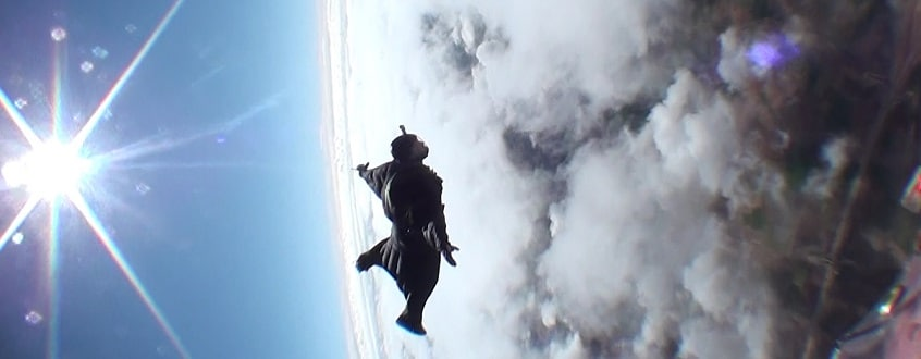 Black wingsuit
