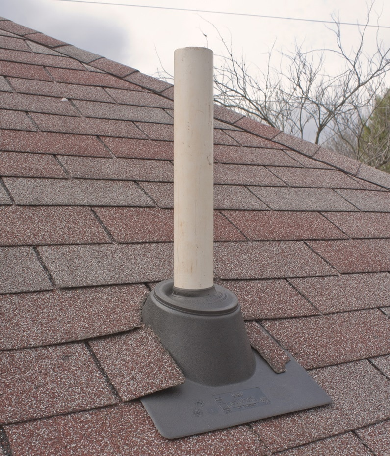 Vent pipe through roof