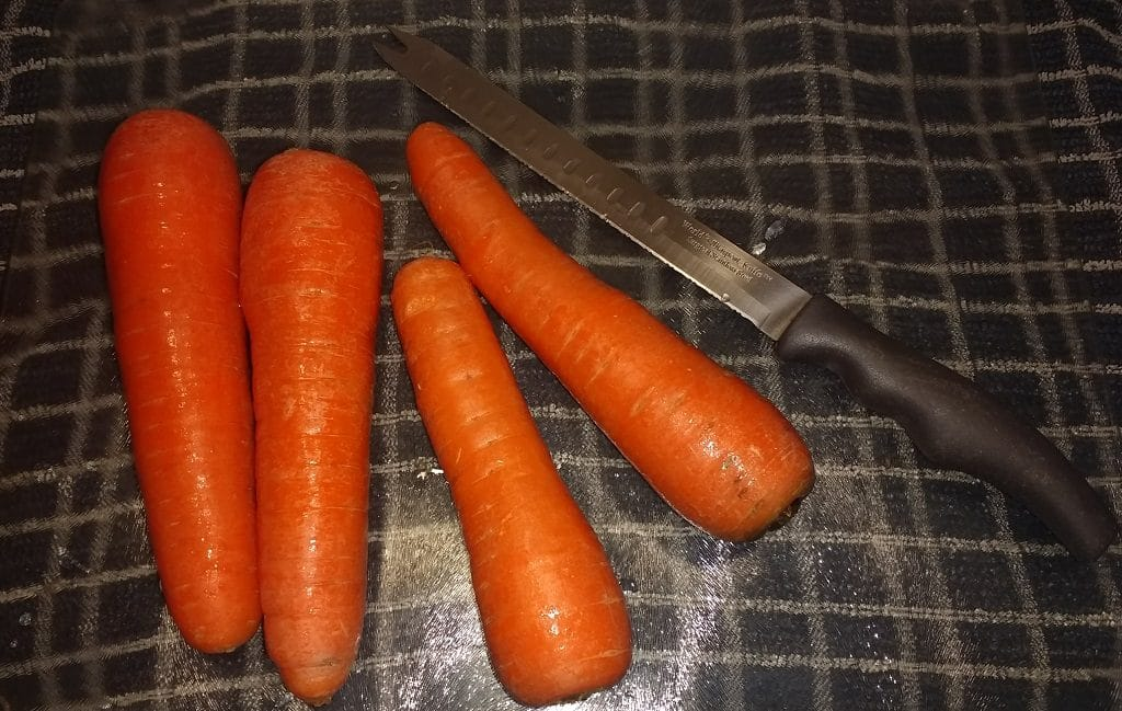 Carrots on glass plate