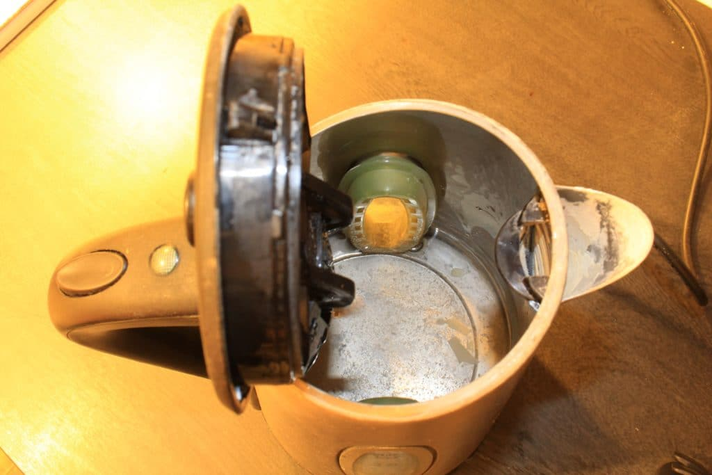Limescale in kettle