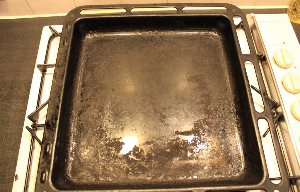 Not so clean baking tray