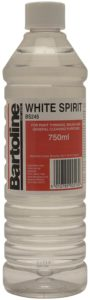Bottle of white spirit