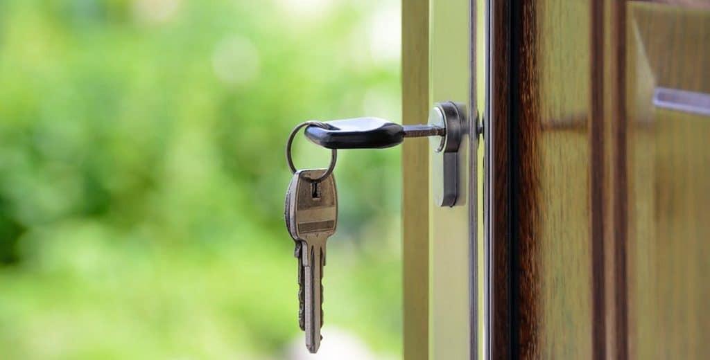 key in door of new home