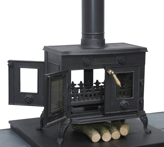 Large double fronted stove