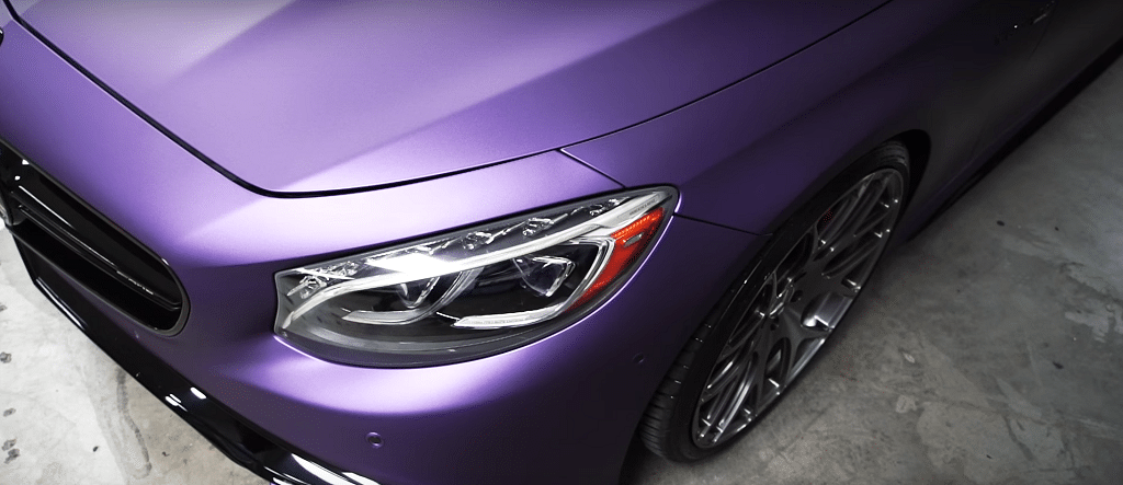 Purple car wrapped
