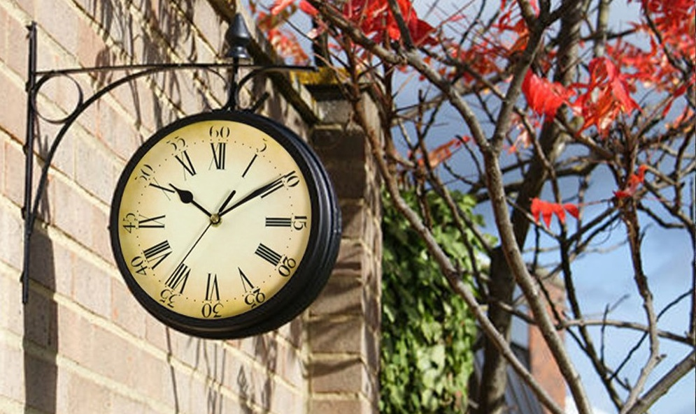 garden wall clock gift