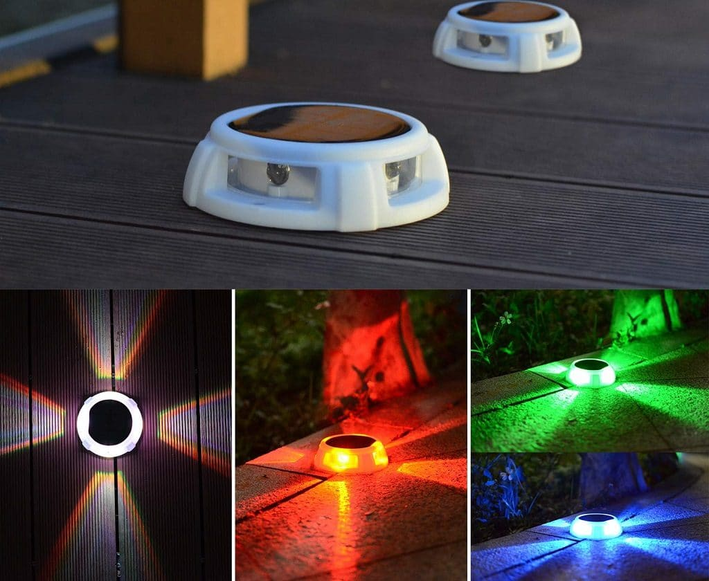 Red Green and Blue Solar ground lights