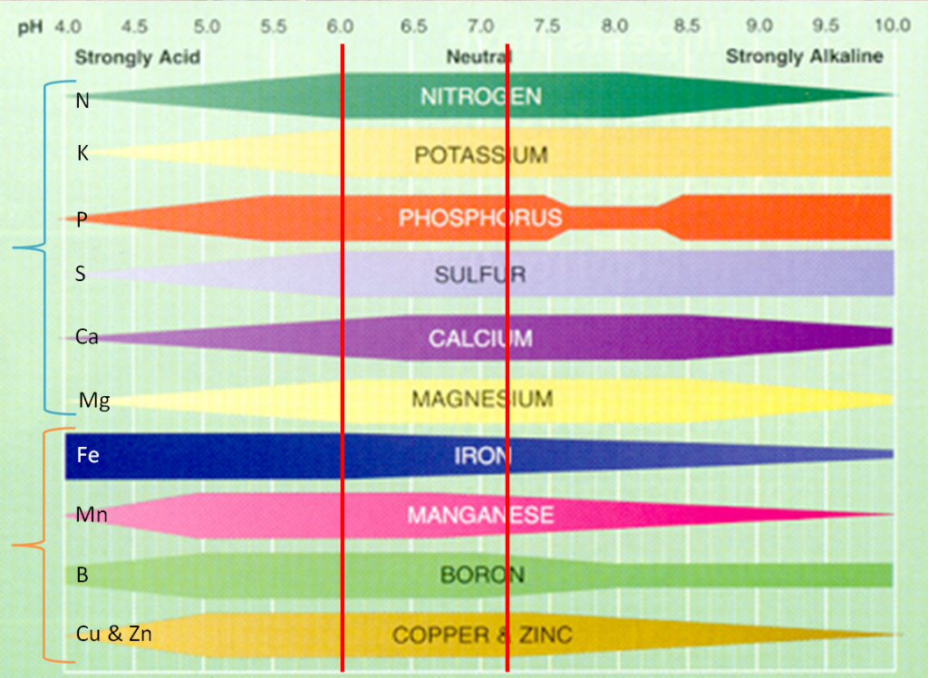 pH soil graph