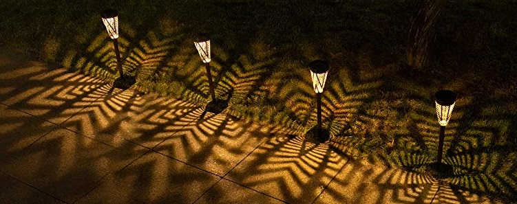 Subtle garden solar lights
