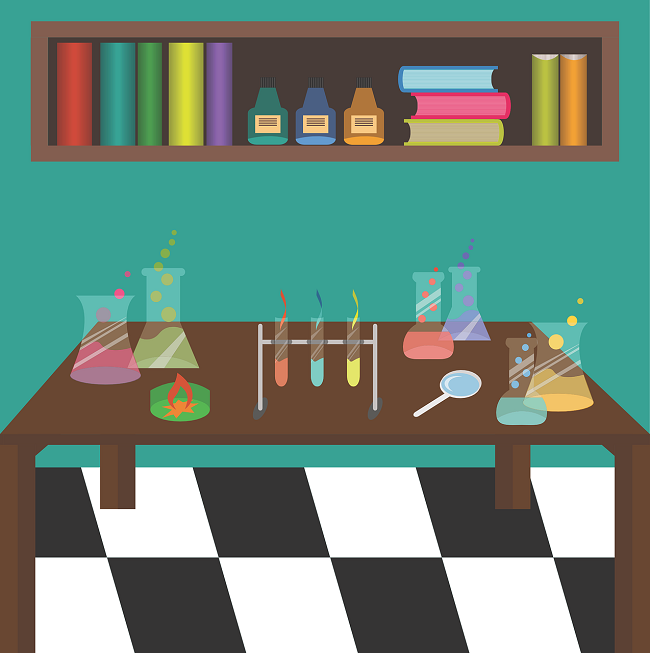 Science lab graphic